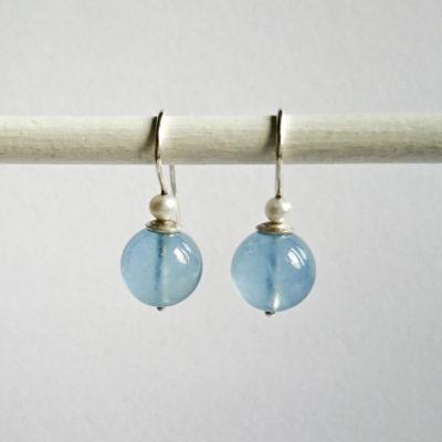 """Ohrhänger aus Sterlingsilber mit Edelsteinen und Perlen aus der Kollektion """"Klassisch, klar, kunterbunt"""""""