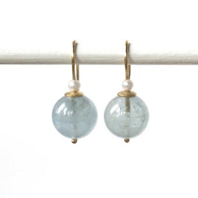 """Feinvergoldete Ohrhänger aus Sterlingsilber mit Edelsteinen aus der Kollektion """"Klassisch, klar, kunterbunt"""